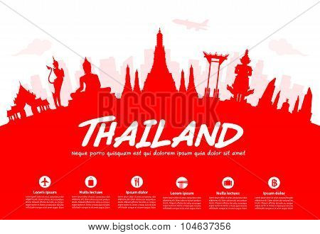 Thailand Travel Landmarks.