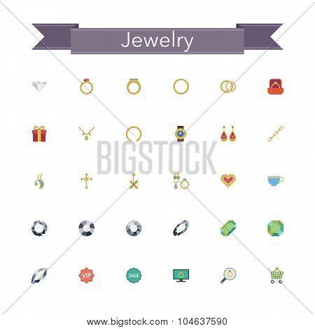 Jewelry Flat Icons