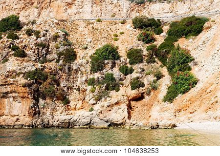 Asia In Thurkey Antalya  Water Rocks And