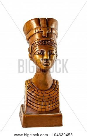 Queen Nefertiti Isolated On White
