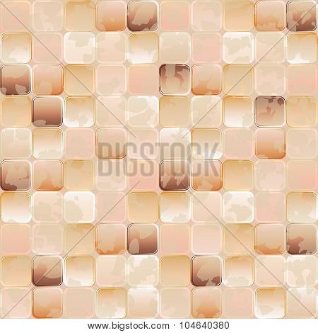 Seamless Background. Gradient Transparent Tiles With Grunge Effect