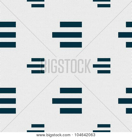 Right-aligned Icon Sign. Seamless Pattern With Geometric Texture. Vector