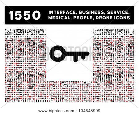 Key Icon and More Interface, Business, Tools, People, Medical, Awards Flat Vector Icons