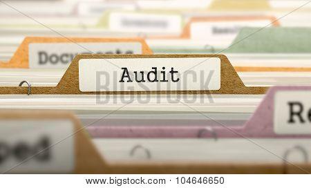 Audit Concept. Folders in Catalog.