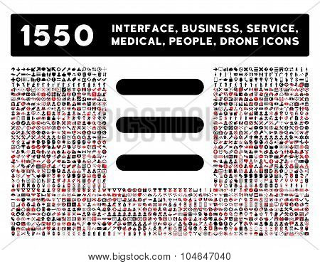 Menu Icon and More Interface, Business, Tools, People, Medical, Awards Flat Vector Icons