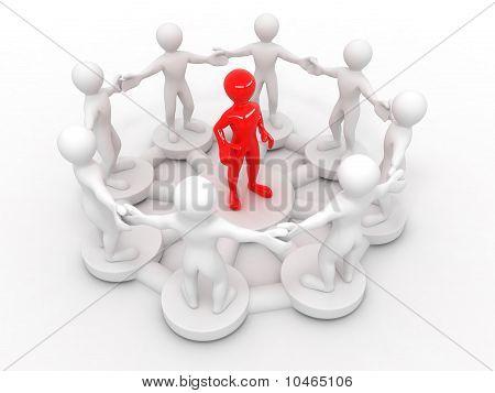 Conceptuele afbeelding van leiderschap