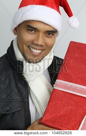christmas time - young man smiling