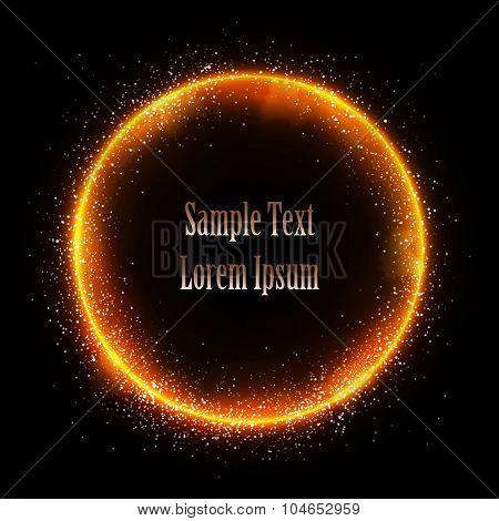 Glittering star dust circle