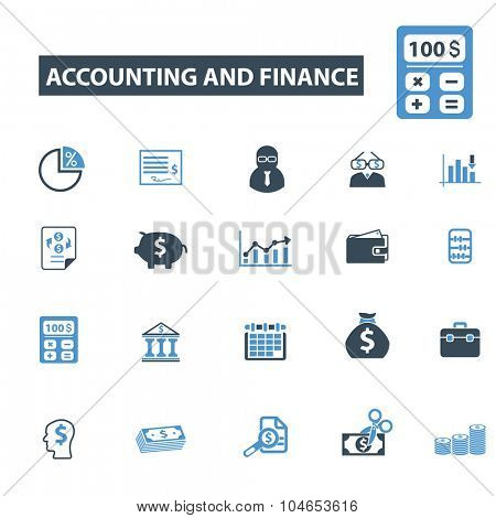 accounting, finance icons