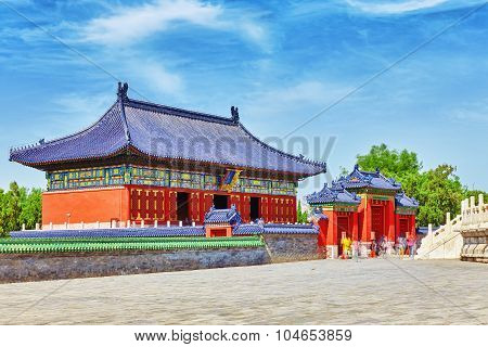 Pavilions Within The Complex Of The Temple Of Heaven In Beijing. Translation: