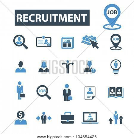 recruitment, headhunter, human resources icons
