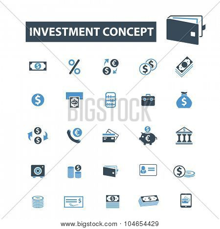investment, finance icons