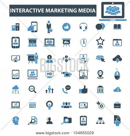 interactive technology media icons
