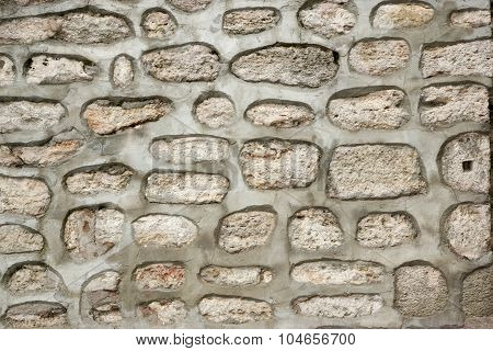 Cellular Modern Concrete Wall With Stones Background