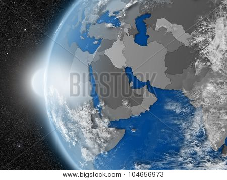 Middle East Region From Space
