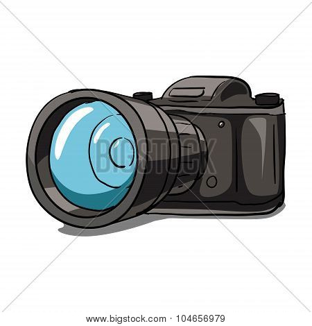 Old camera vector illustration