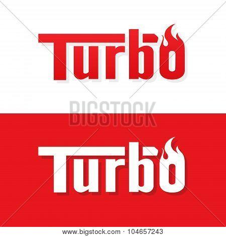 Turbo text logo vector design