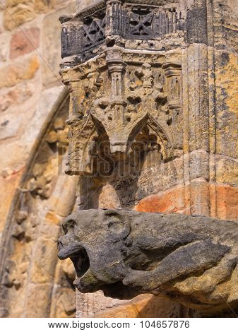 Intricate carvings of Rosslyn chapel, Scotland