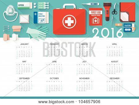 First Aid Kit Calendar 2016