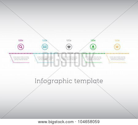 Infographic template simple timeline with icons