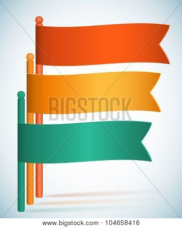 Infographics-flags-presentation-template-gradient-background