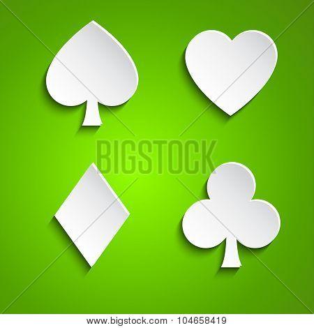 Symbol set of playing cards
