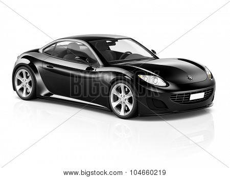 Super Car Elegant Automobile Contemporary Coupe Transportation Concept