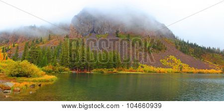Twin lakes landscape at  Mammoth lakes area in California