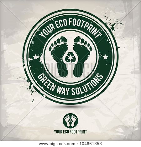 Alternative Eco Footprint Stamp