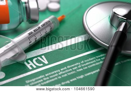 Diagnosis - HCV. Medical Concept.