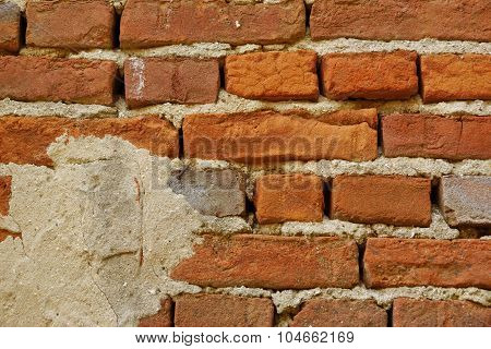 Old Red Brick Wall Background Texture
