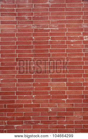 Modern Red Brick Wall Vertical Background Texture