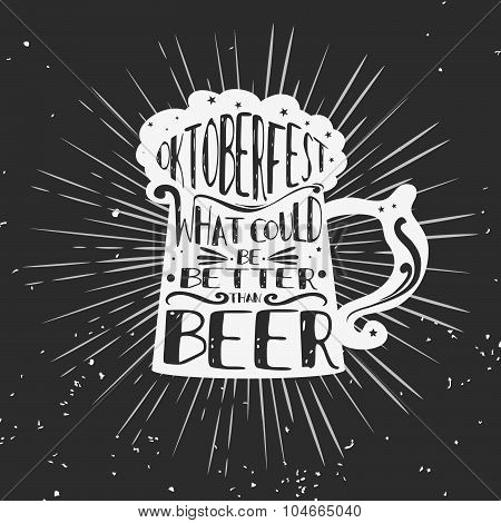 Typographic Poster With A Beer