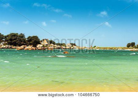 coastal landscape of Bretagne, northern France