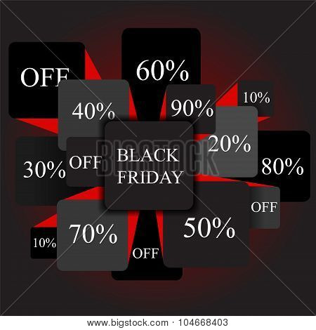 Black Friday. Info-graphic Elements. Sale. Stock Vector