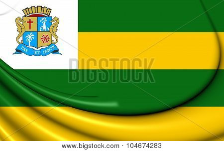 Flag Of Aracaju, Brazil.