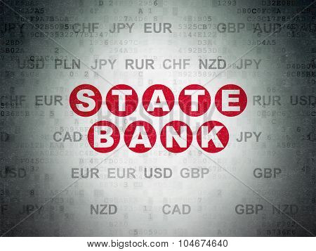 Currency concept: State Bank on Digital Paper background