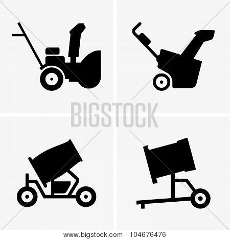 Snow blowing machine and snow cannon