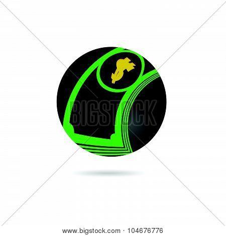 Dollar Icon Color Vector