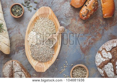 Grain breads and cereals