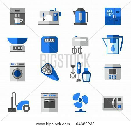 Icons, Home Appliances, Color...