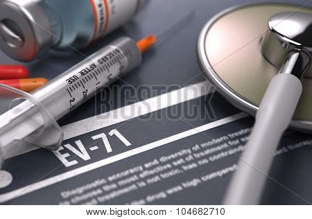 Diagnosis - EV-71. Medical Concept.