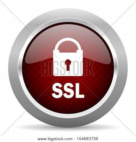 ssl red glossy web icon