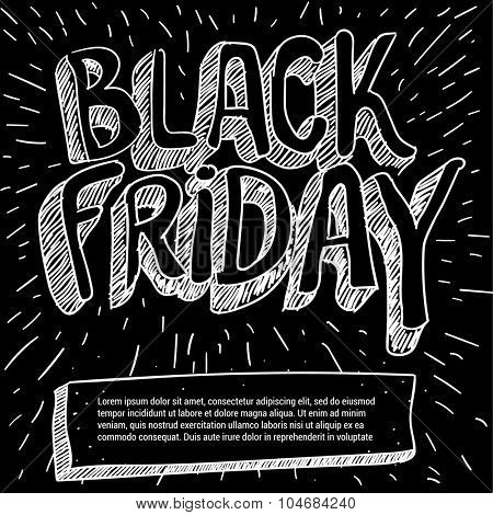 Black Friday  sale poster vector mock up.