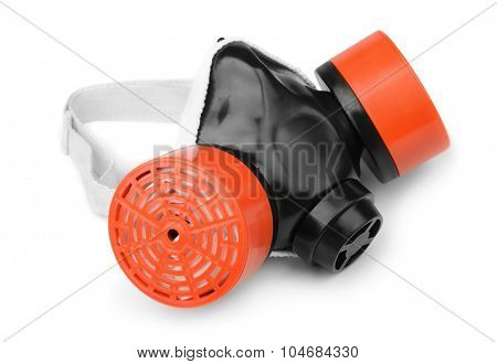 Multi-purpose respirator mask isolated on white