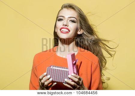 Portrait Of Smiling Delightful Girl