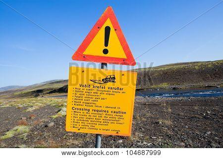 Iceland Traffic Signs