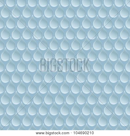 Seamless blue water drop regular pattern.
