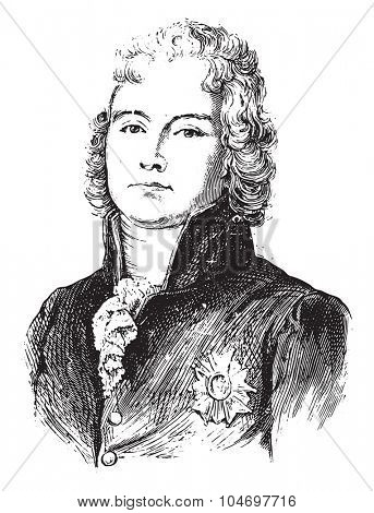 Talleyrand, vintage engraved illustration. History of France 1885.