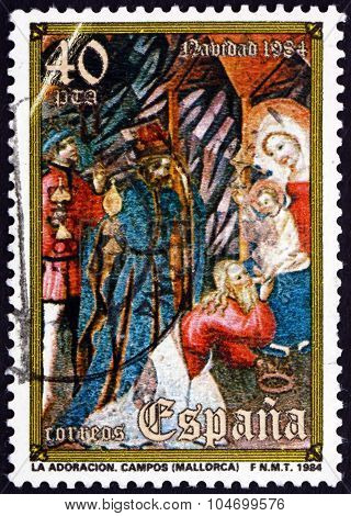 Postage Stamp Spain 1984 Adoration Of The Kings